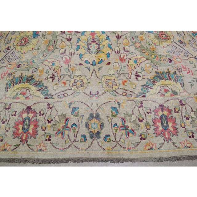"""Vintage Turkish Hand Woven Oushak Rug With Allover Design and Silky Soft Texture,9'7""""x13' For Sale - Image 4 of 7"""