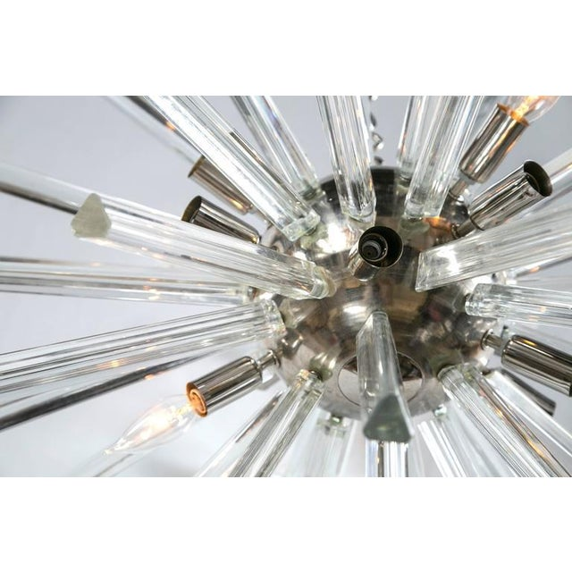 1970s A Pair of Italian Mid-Century Modern Chrome Sputnik Chandeliers For Sale - Image 5 of 6