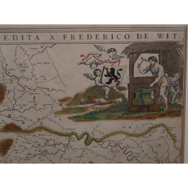 18th Century Map of the Historic County of Namur, Belgium For Sale In San Francisco - Image 6 of 9