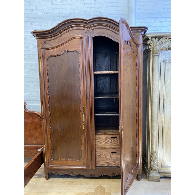 French Provincial Early 20th Century French Storage Armoire For Sale - Image 3 of 13