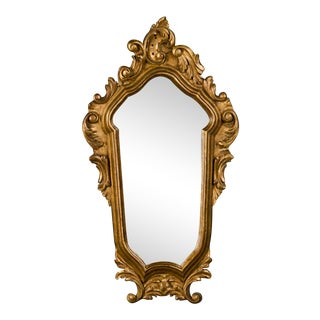 Late 19th Century French Louis XV Regence Style Gilded Mirror For Sale