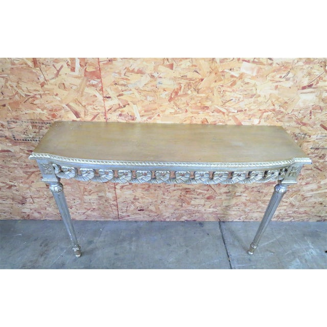 Florentine Silver Gilt Console Table For Sale - Image 5 of 5
