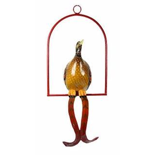 Vintage Sergio Bustamante Limited Edition Paper Mache Tropical Bird Sculpture Preview