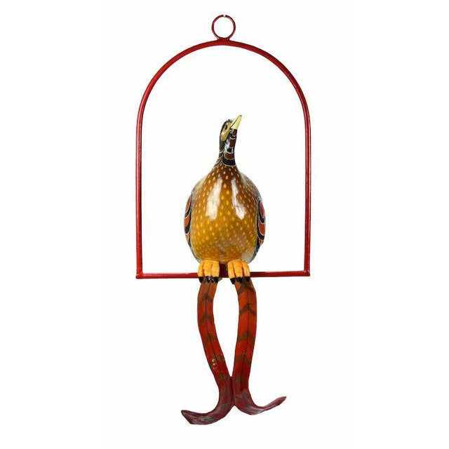 Sergio Bustamante (Mexican, b. 1949) Tropical Bird papier-mache sculpture on metal perch, limited edition number 24 of...