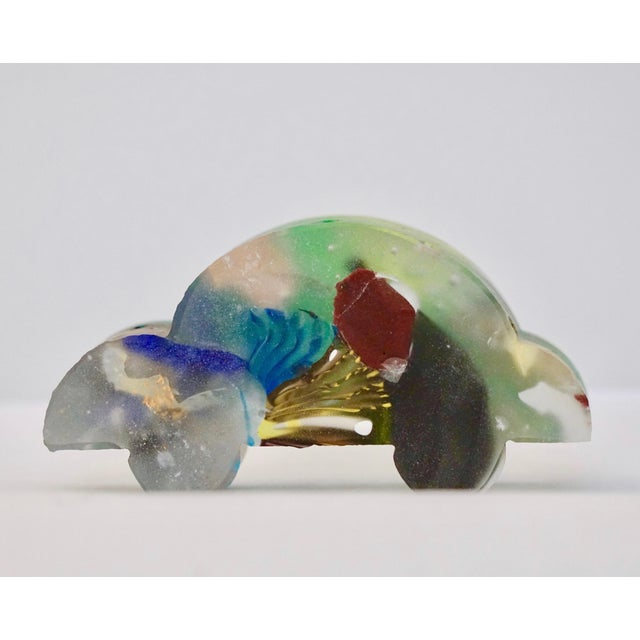 Contemporary Recycled Blue, Green, Yellow Murano Glass Decorative Car Sculpture For Sale - Image 9 of 11
