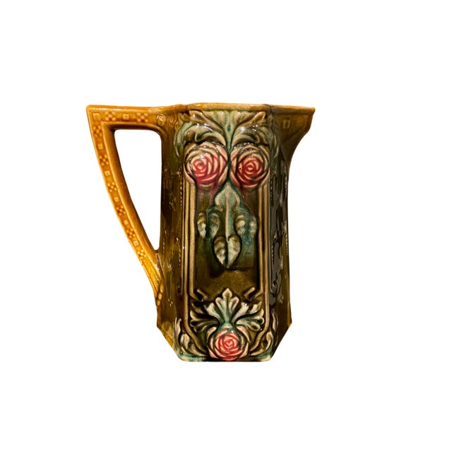 French 18th Century French Majolica Pitcher For Sale - Image 3 of 6