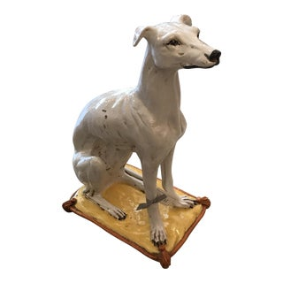 Italian Terra-Cotta Whippet For Sale