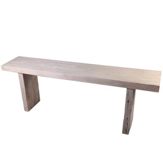 Organic Modern White Teak Console Table For Sale