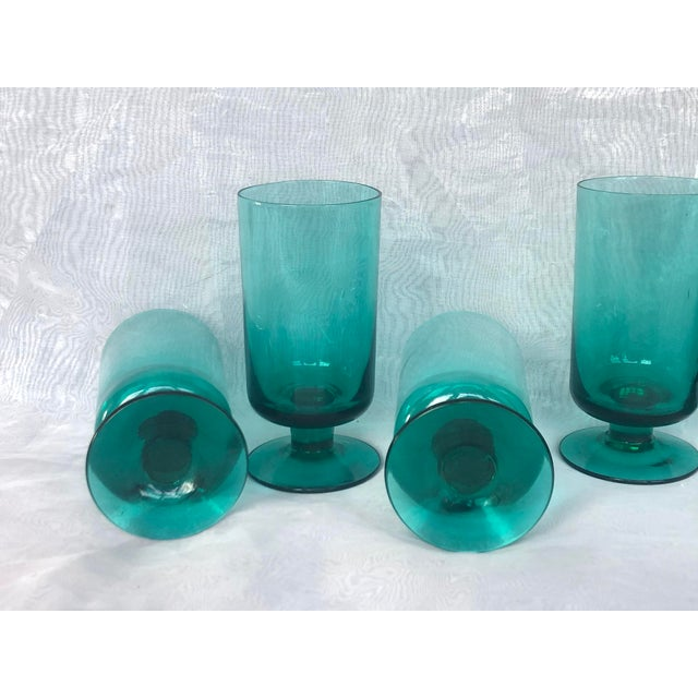 1950s Hand-Blown Swedish Juice Glasses- Set of 6 For Sale - Image 10 of 13