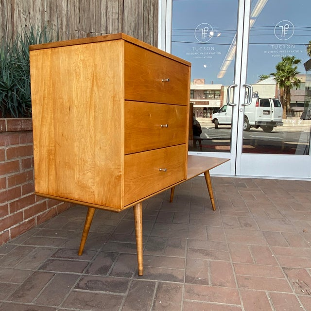 Mid-Century Modern Paul McCobb Planner Group by Winchendon Modular Cabinet and Bench For Sale - Image 11 of 13