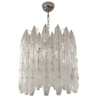 Venini Drum Poliedri Ceiling Light For Sale