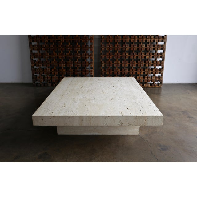 Late 20th Century Travertine Coffee Table, Circa 1980 For Sale - Image 5 of 13