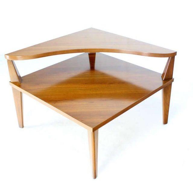 Fine Pair Of MidCentury Modern Step End Corner Tables By John - Mid century modern corner table
