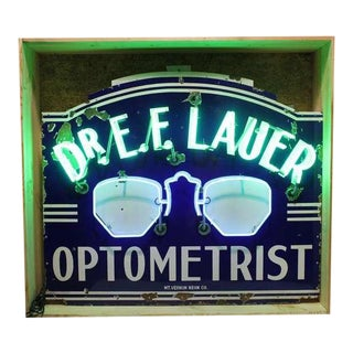 "1930's Original Neon ""Optometrist"" Sign"