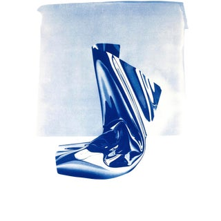 """Cyanotype Print on Watercolor Paper by Jose Miguel Marques, """"Clear Plastic #1"""" / 50x70cm / Edition Size: 20 For Sale"""