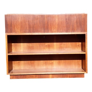 Danish Modern Freestanding Rosewood Bookcase For Sale