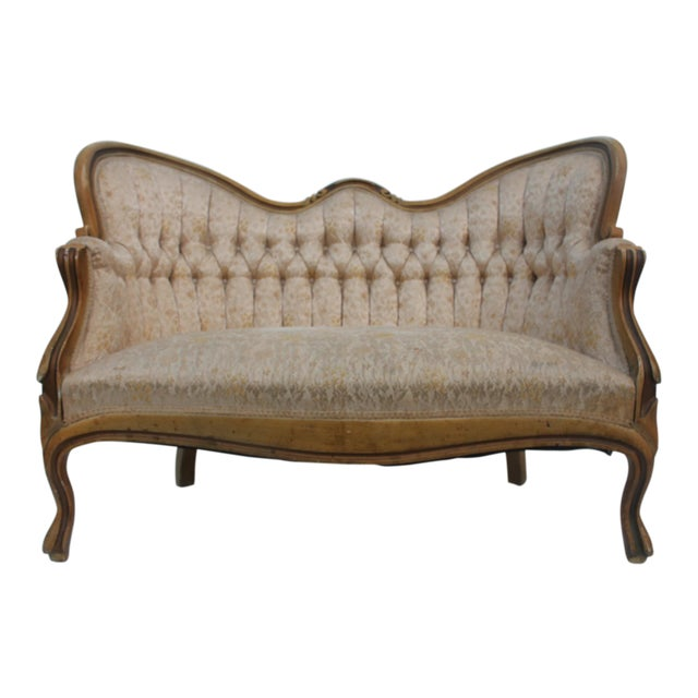 French Antique Carved Loveseat - Image 1 of 11