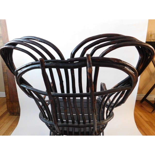 20th C. American Adirondack Twig Willow Rocking Chair For Sale - Image 9 of 13