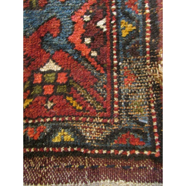 Textile Antique Persian Kurdish Runner - 3′8″ × 16′5″ For Sale - Image 7 of 9