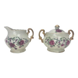 Royal Sealy Miniature Sugar Bowl and Creamer - 2 Pieces For Sale