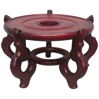Early 19th Century New England Carved Mahogany Planter or Vase Stand For Sale
