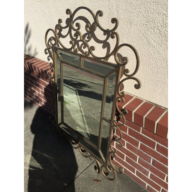"Kreiss Wrought Iron Malaga Mirror. In excellent condition. This mirror measures 51"" tall x 37.5"" wide x 1"" deep. This more..."