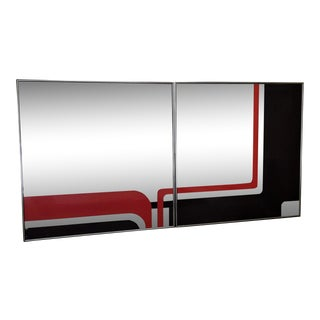 1972 Vintage Greg Copeland Modernist Decorative Mirrors - a Pair For Sale
