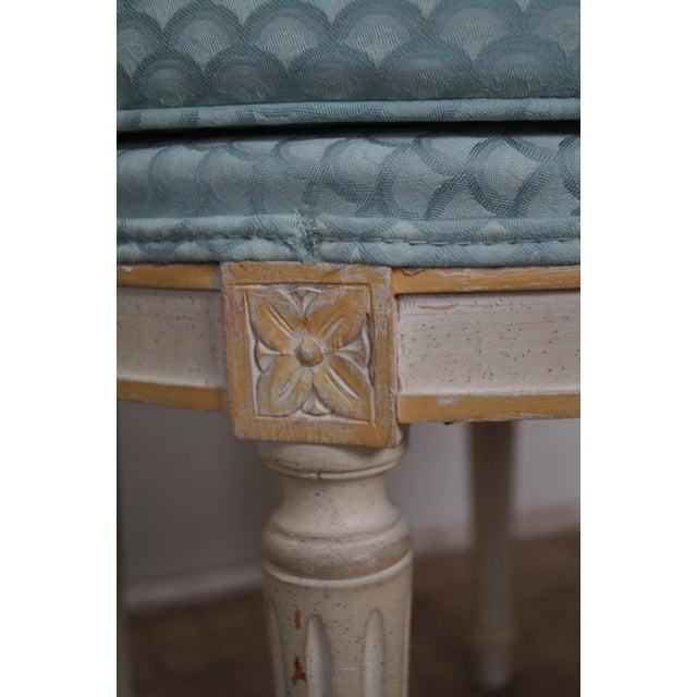 Vintage French Louis XVI Style Swivel Vanity Bench - Image 3 of 10