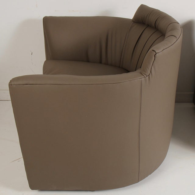 John Saladino for Baker Leather Lounge Chairs For Sale - Image 10 of 12