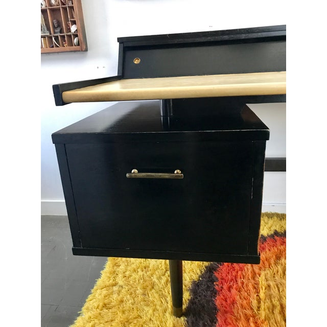 Mid Century Biscayne Floating Desk Edward Wormley for Drexel - Image 5 of 11