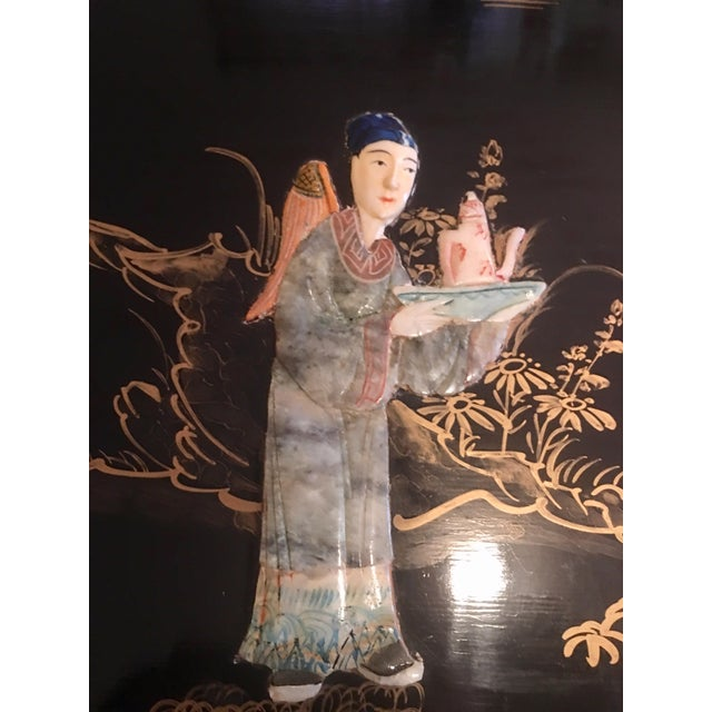 Chinoiserie Wall Art With Semi Precious Stones For Sale In New York - Image 6 of 9
