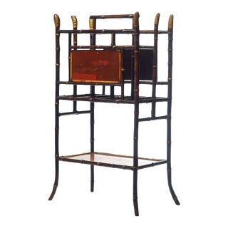 19th Century English Bamboo Magazine Rack For Sale