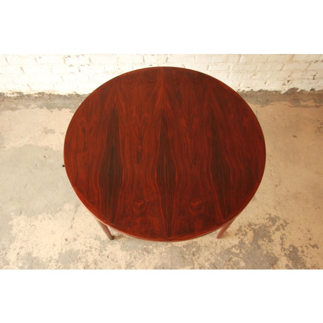 Rosewood Ib Kofod Larsen Rosewood Extension Dining Table For Sale - Image 7 of 11