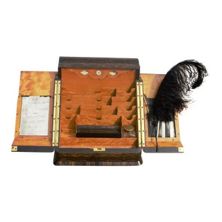 Antique Toulmin and Gale of New Bond Street Writing Desk Set For Sale