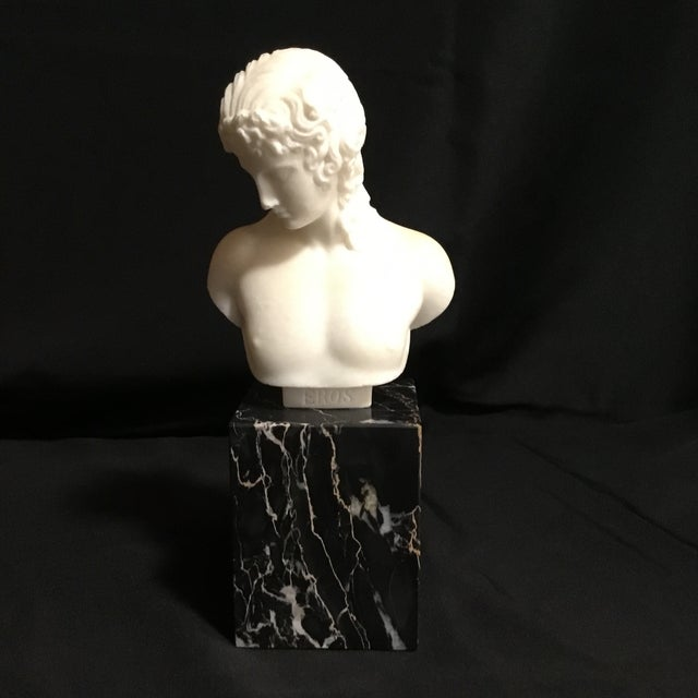 Eros Greek God of Love Marble Statue For Sale - Image 9 of 9