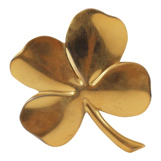 Gold Plated Brass 4-Leaf Clover