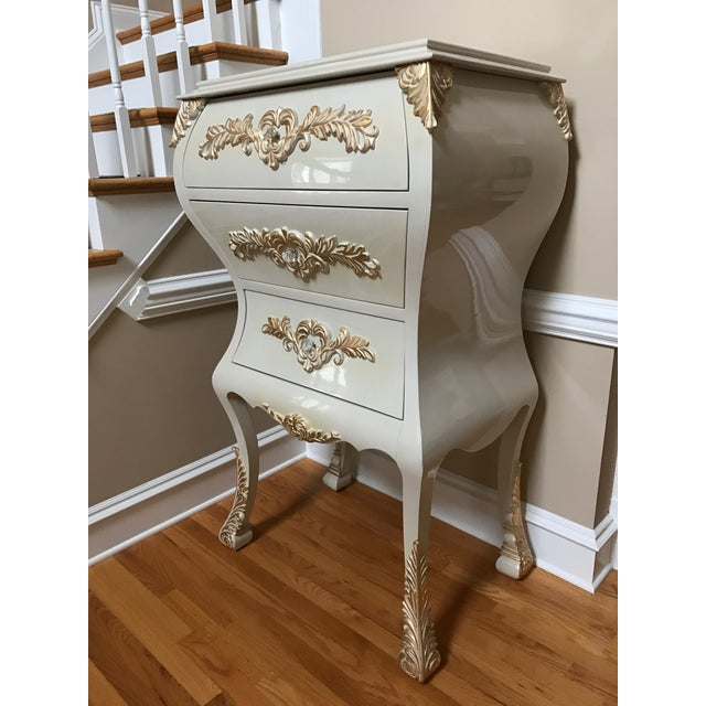 Neoclassical Gold Leaf Accent Chest of Drawers - Image 3 of 7