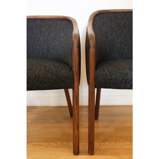 1960's Vintage Ward Bennet for Brickell Upholstered Club Chairs- Set of 6 For Sale In San Antonio - Image 6 of 7