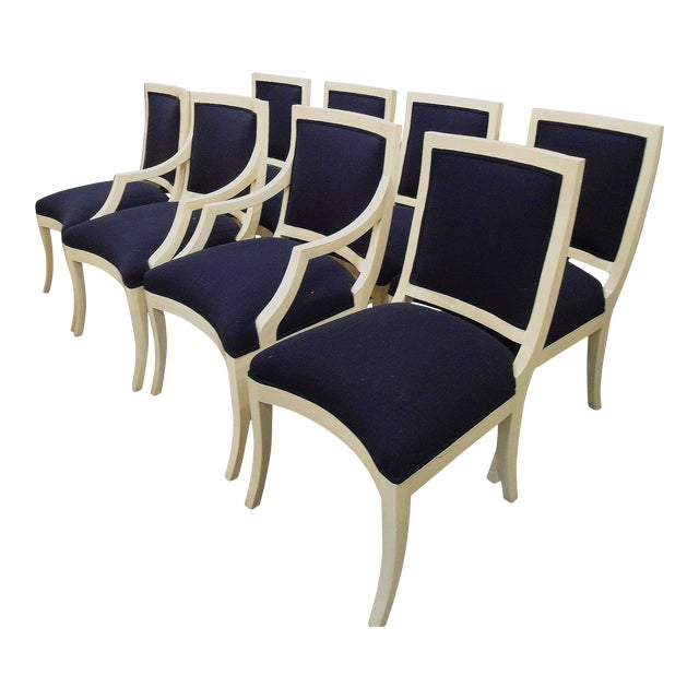 J. Robert Scott Modern Lacquer Italian Dining Chairs - Set of 8 - Image 1 of 6