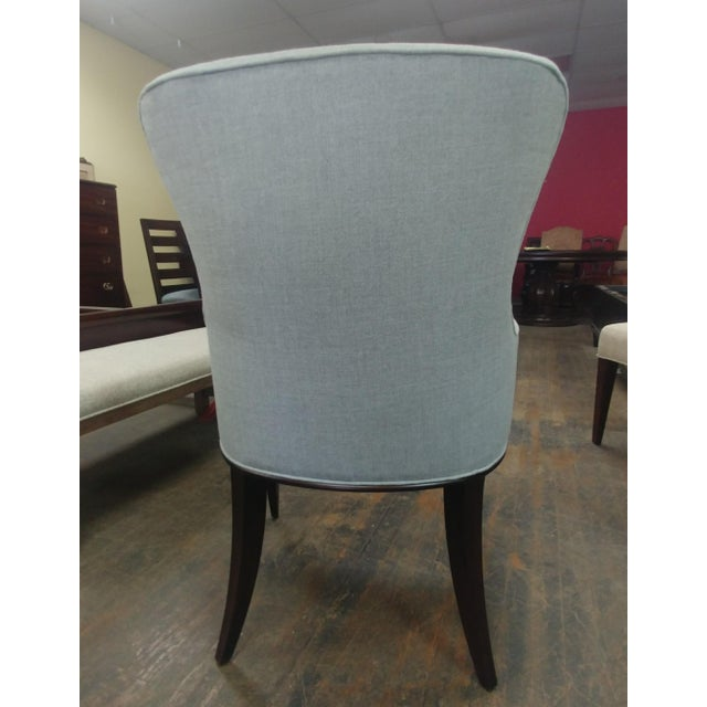 Art Deco Henredon Furniture Barbara Barry Bowmont Light Grey Dining Chairs - Set of 6 For Sale - Image 3 of 13