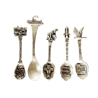 Pewter Souvenir Spoons - Set of 5