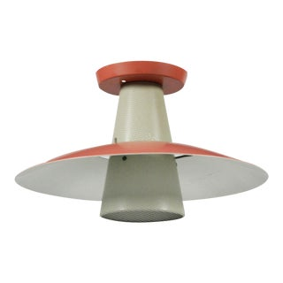 Gerald Thurston for Lightolier Perforated Cone Pendant Light For Sale
