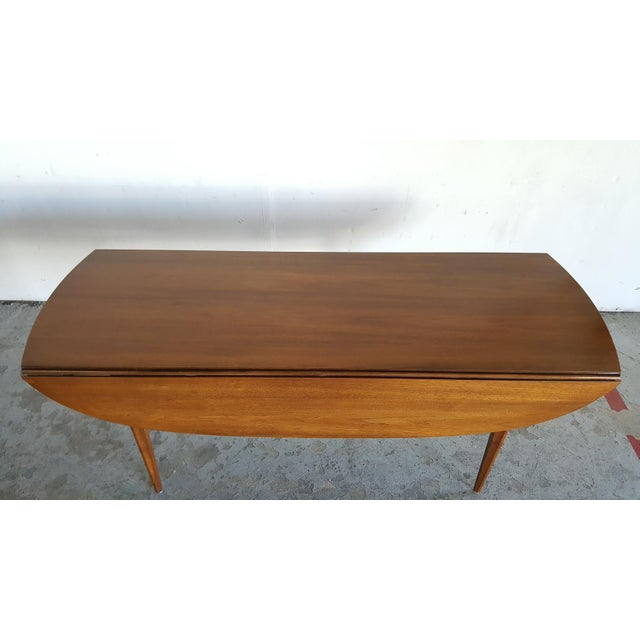 Broyhill Brasilia Walnut Drop Leaf Dining Table - Image 8 of 11