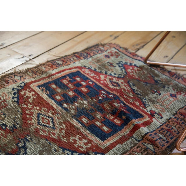"""Antique Anatolian Rug Mat - 1'10"""" x 2'8"""" For Sale - Image 4 of 6"""