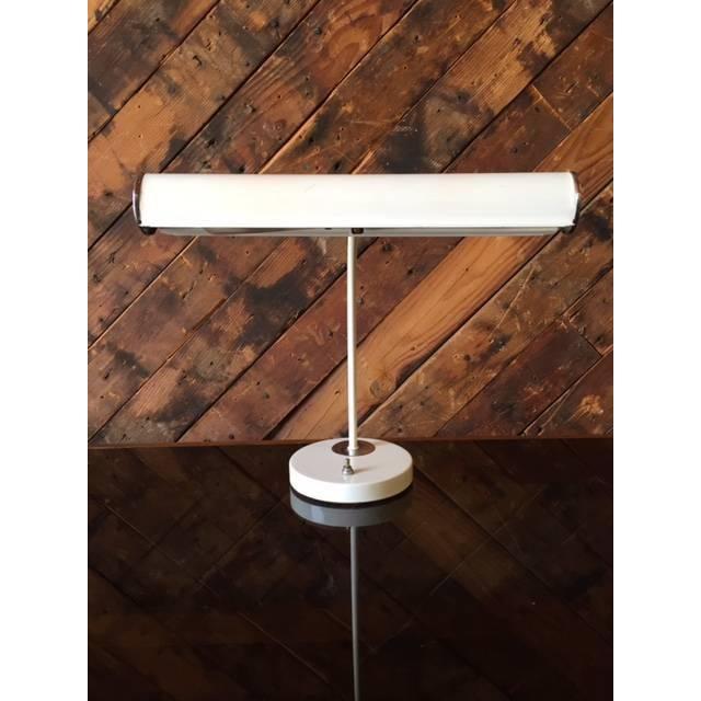 Vintage White Chrome Task Lamp - Image 2 of 6