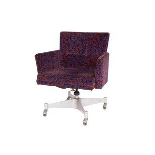George Nelson Herman Miller Velvet Upholstered Office Chair For Sale