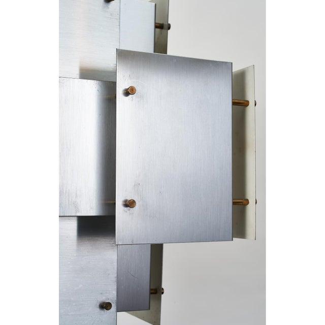 Satin Steel Floating Panel Chandelier by Robert Sonneman For Sale - Image 9 of 11