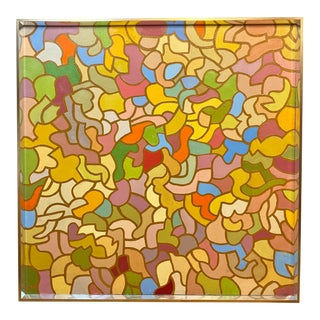 Large Modernist Masterpiece Geometric Oil Painting Patricia Sloane For Sale