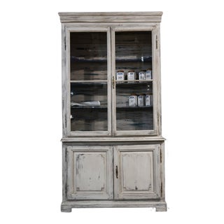 19th Century French Painted Buffet A'deux Corps For Sale