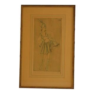 Vala Moro Art Nouveau Deco Original Etching Print For Sale